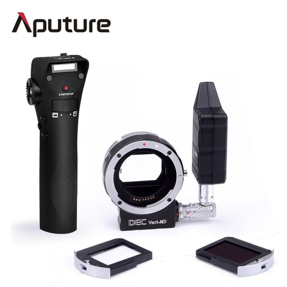 Aputure New DEC Vari-ND for E-mount Wireless Remote Adapter For Canon E-mount cameras multi-steps light adjusting aputure dec vari nd nd8 to nd2048 using ef mount lenses to e mount cameras