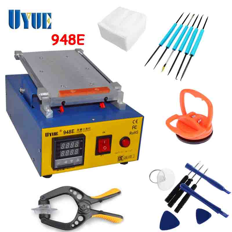 UYUE 110/220 V 7 inch LCD screen separator machine for lcd and glass separating work mobile lcd repair work 948E free shipping screen repair machine kit ly 946d lcd separator for 5 inch mobile screen 12 in 1 separate machine