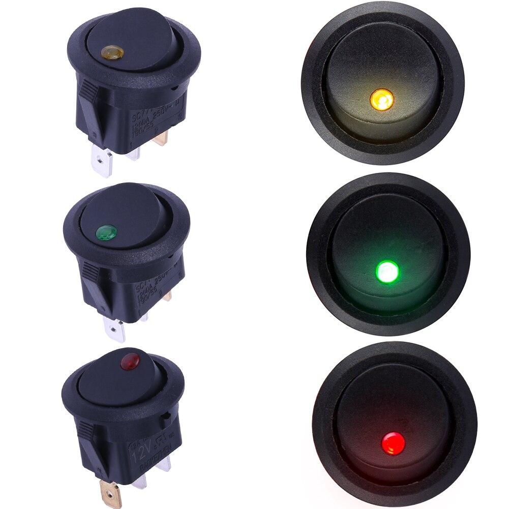 5X 12V 2pins car dash rocker switch lever SPST ON // OFF carbon AIRCRAFT-blue H4