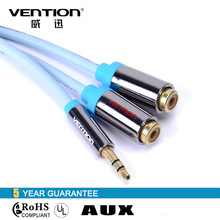 Vention 3.5mm to RCA Audio Cable male to female Stereo aux cable blue 0.3m 2 RCA stereo jack cables for cellphone/computer