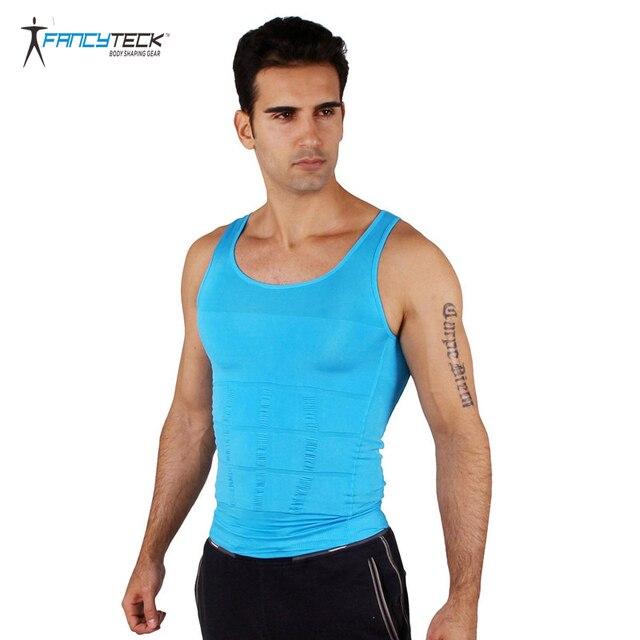 463d4cdb5 محدد شكل الجسم الرجال البطن التخسيس T قميص حزام مشد للرجال ارتداءها الملابس  الداخلية حزام تخسيس