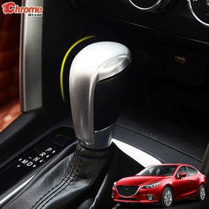 For Mazda 3 Axela 2014 2015 2016 2017 2018 Chrome Gear Shift Head Cover Trim Handle Control Knob Lid Cap Decoration Car Styling(China)