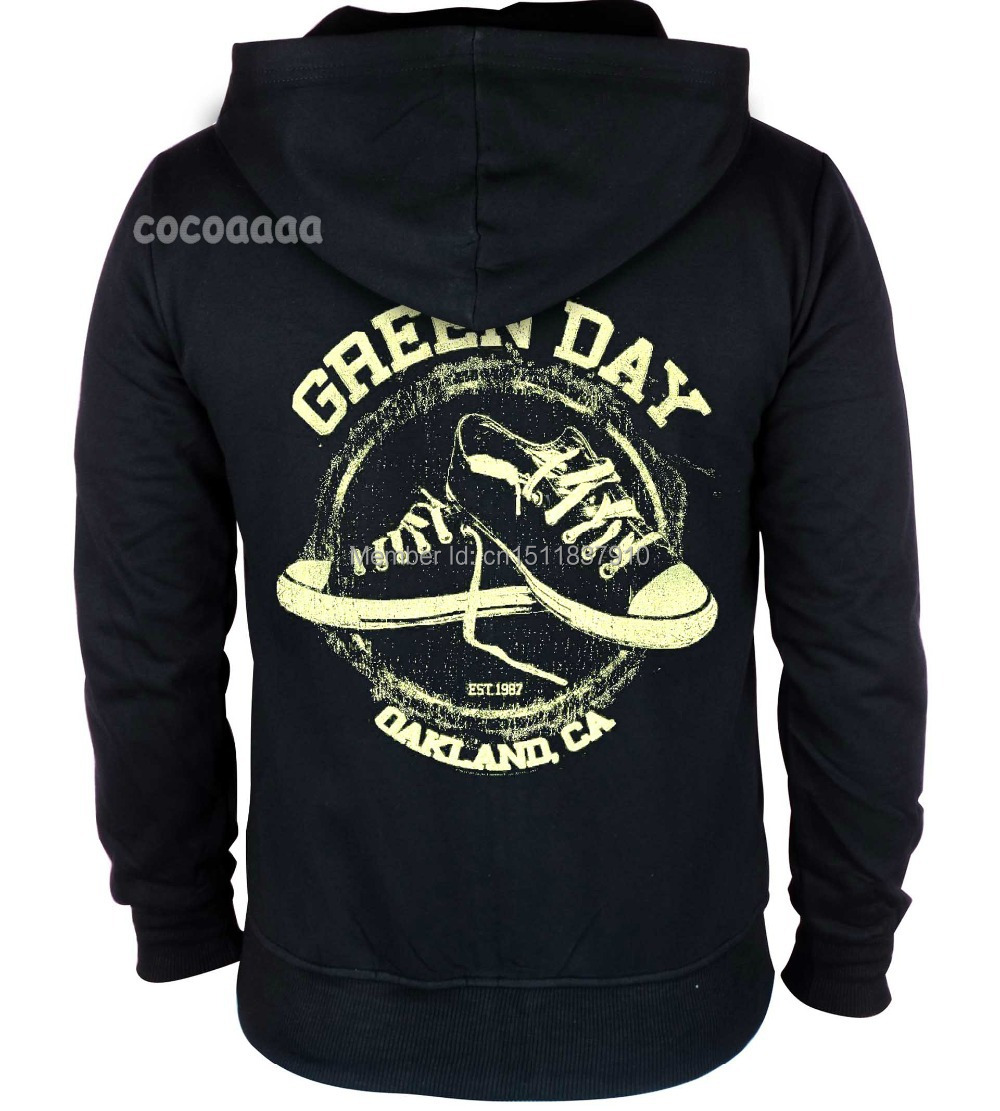 4 kinds Green Day Cotton Rock Vintage pollover Zipper hoodies ...