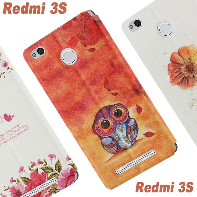 Xiomi Xiaomi Redmi 3s case cover leather flip Window case for original Xiaomi Redmi 3s phone case Cartoon Xiaomi Redmi 3 s case