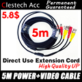 Goede Kwaliteit 10 M DRAAD Video Power Kabels Camera verlengen Draden voor CCTV DVR Surveillance System met BNC DC Connectoren extension