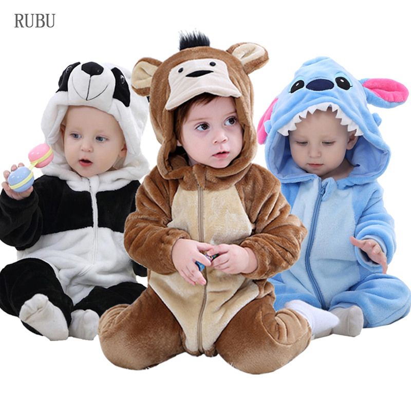 Baby Girl Clothes Animal Baby   Rompers   Costume New born Bebe Clothing Panda Stitch Onesie Toddler Pajamas Winter Boys Jumpsuit