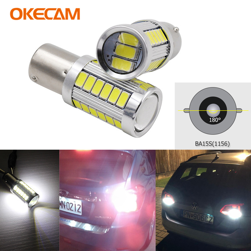 2x BA15S Car <font><b>LED</b></font> Bulbs for VW <font><b>Passat</b></font> B5 <font><b>B6</b></font> Canbus Auto P21W <font><b>LED</b></font> Reverse Light for VW <font><b>Passat</b></font> 2001-2010 1156 Backup <font><b>DRL</b></font> Lamp image