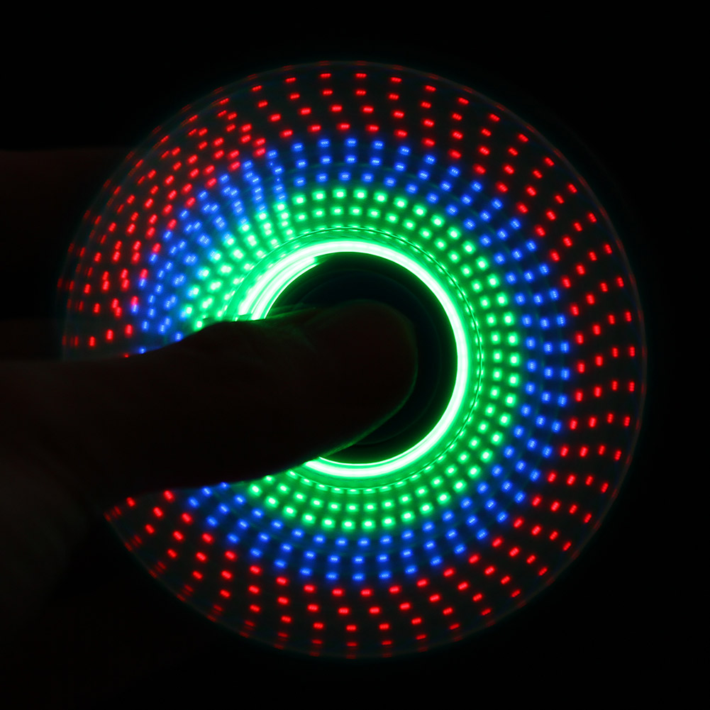 LED Light Rainbow Hand Spin Finger Plastic EDC Hand Spinner For Autism And ADHD Relief Focus Anxiety Stress Wheel Toys Gift multi color gyro led light finger spinner fidget plastic abs hand for autism adhd anxiety stress relief focus toys gift