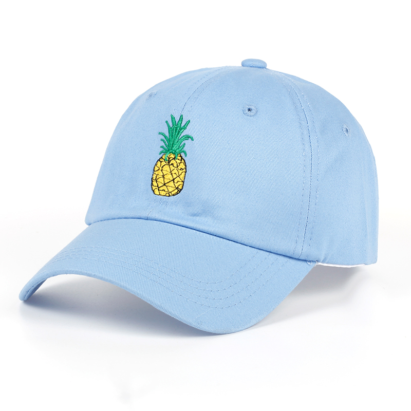 TUNICA Pineapple Embroidery Baseball Cap Cotton 100% Hipster Hat Fruit Pineapple Dad Hat Hip Hop Cotton Snapback Cap hats dynamite baits xl pineapple