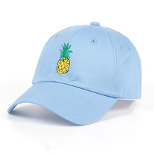 TUNICA Pineapple Embroidery Baseball Cap Cotton 100% Hipster Hat Fruit  Pineapple Dad Hat Hip Hop 1bea2544a1da