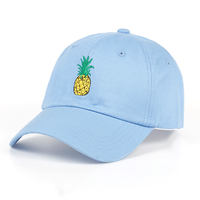a37d77ecc8c Custom Review TUNICA Pineapple Embroidery Baseball Cap Cotton 100% Hipster  Hat Fruit Pineapple Dad Hat Hip Hop Cotton Snapback Cap hats