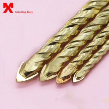 Hard alloy triangular drill glass ceramic ceramic tile wall opener