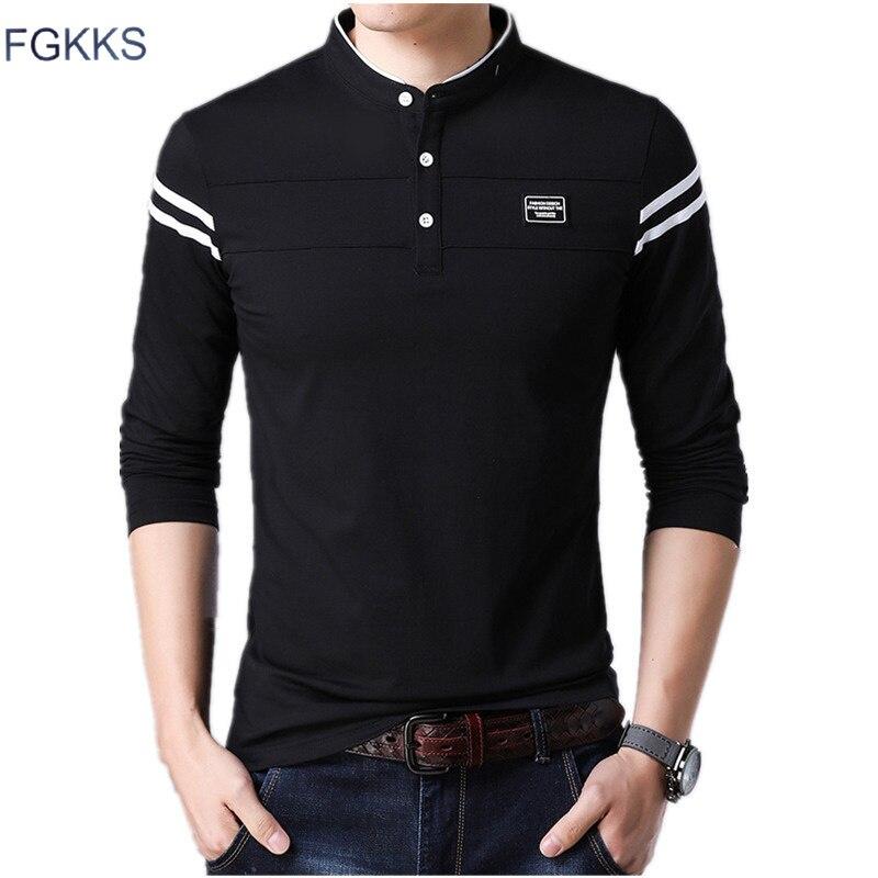 FGKKS Men Brand   Polo   Shirt 2019 Summer Men's   Polos   Shirts Cotton Short Sleeve Business Tee Top Male Fashion   Polo   Shirts