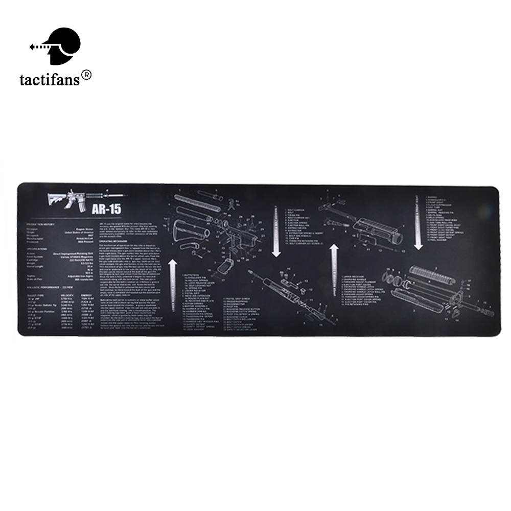 Tactical Cleaning Mat Rubber Carpet Waterproof Non-Slip Bench With Diagram Parts And Instructions AK47 AR15 REM870 Mouse Pad