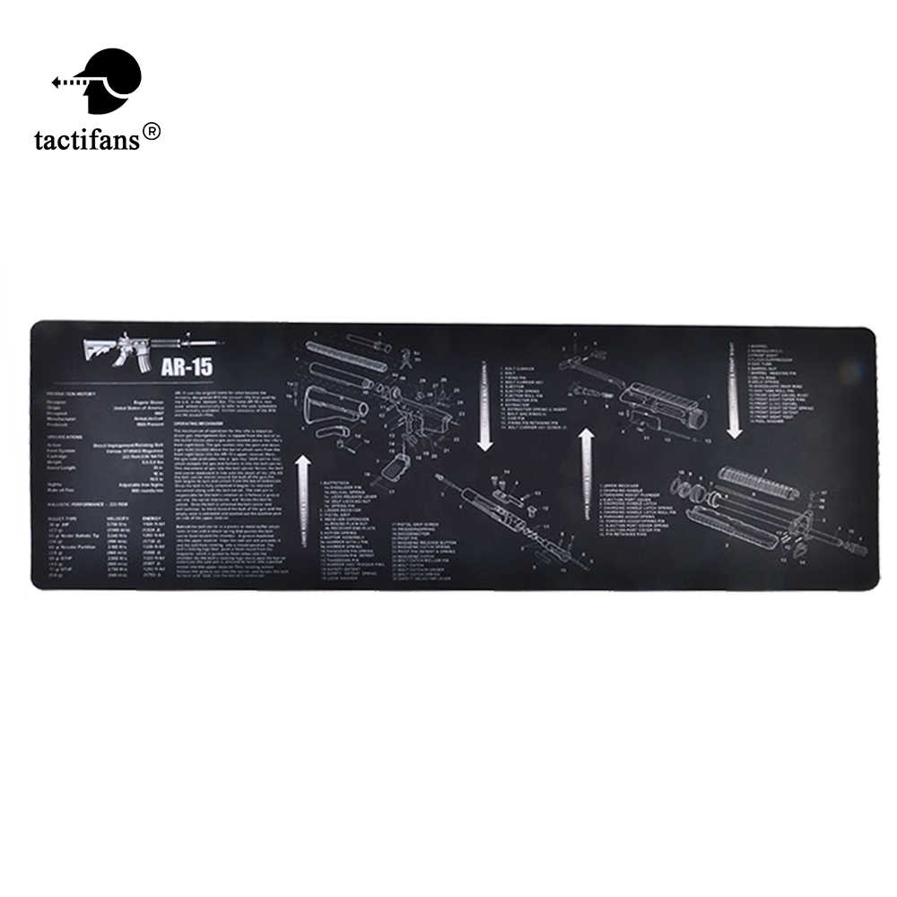 tactical cleaning mat rubber carpet waterproof non-slip bench with diagram  parts and instructions ak47