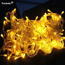 Tanbaby 10M 100 LED Home Outdoor Holiday Christmas Decorative Wedding xmas String Fairy Garlands Strip Party