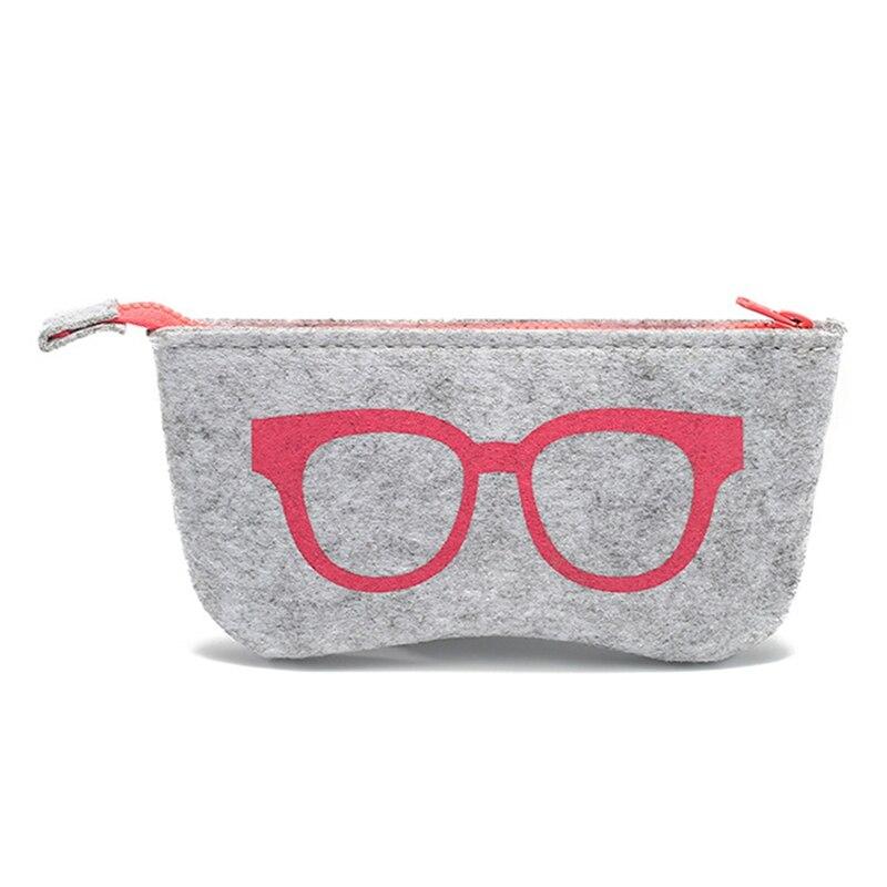 1pcs Hot Portable Solid Zipper Eye Glasses Sunglasses Case Pouch Bag Box Storage Protector Felt Box Fashion Eyewear Accessories