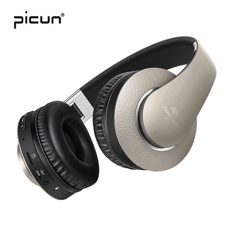 Picun P1 Audifonos Bluetooth Wireless Headphones Bass Stereo With Microphone MP3 FM Radio For Apple Iphone SE 32 TV Wireless IOS