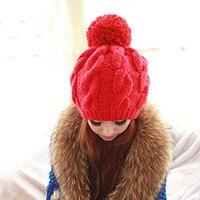 BomHCS Lovely Women Girl Winter Warm Knit Beanie Handmade Hat Caps