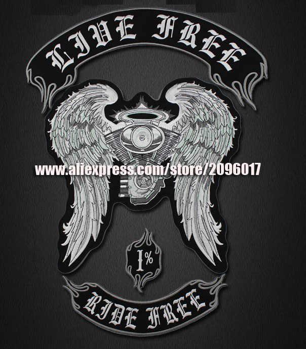 4 stk/set Rit Gratis badges patches voor de Jas Vest biker kleding Badges sew op Pathces Live rider Patches labels stocker