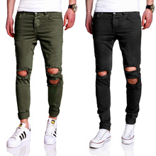 2019 Fashion Men Jeans Casual Pants Plus Size 29-40 Slim Fit Stretch Ripped Jeans Long Pants Hip Hop Style Brand Jeans Men