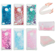 LUCKBUY For ZTE Z982 Case Love Heart Glitter Dynamic Liquid Quicksand Blade Z Max Zmax Soft Silicone Back