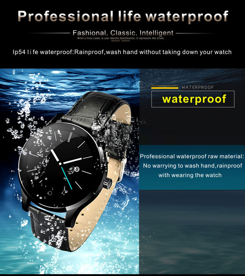 Makibes K88H Bluetooth Smart Watch Classic Health Metal Smartwatch Heart Rate Monitor for Android ISO Phone Remote Camera Clock 12