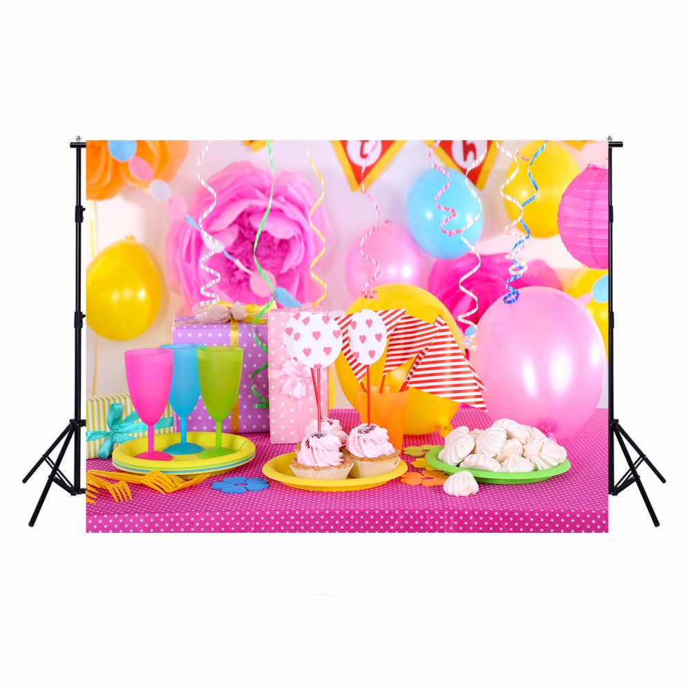 Happy Birthday Photography Backdrops Vinyl Backdrop For Photography Camera Fotografica Baby Birthday Background For Photo Studio ashanks photography backdrops white screen 3 6m photo wedding background for studio 10ft 19ft backdrop for camera fotografica