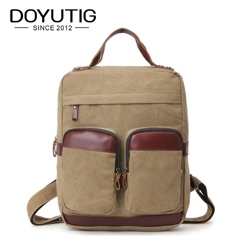 Fashion Backpack Crazy Horse Leather Canvas Men Backpack School Bag Military Backpack Women Rucksack Male Knapsack Bagpack H042Fashion Backpack Crazy Horse Leather Canvas Men Backpack School Bag Military Backpack Women Rucksack Male Knapsack Bagpack H042