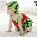 Watermelon Newborn Photography Props Baby Clothes Newborn Baby Boy Clothes Girls Baby Rompers Infant Clothing Set Hats Overalls