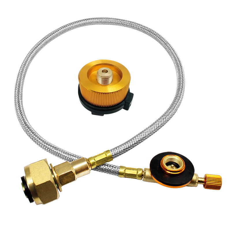 Outdoor Gas Stove Camping Stove Propane Refill Adapter Burner LPG Flat Cylinder Tank Coupler Bottle Adapter