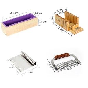 Image 2 - Muffa del Sapone del Silicone Saponi Fatti A Mano Fare Tool Set 4 Scatola di Legno di Taglio con 2 Pezzi In Acciaio Inox Frese E Taglierine Per Micro SIM