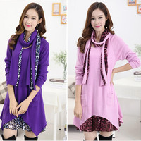Fashion Winter Autumn Spring Maternity Dresses Loose Thicken Warm Pregnancy Plus Large Zise Clothes Pregnant Women