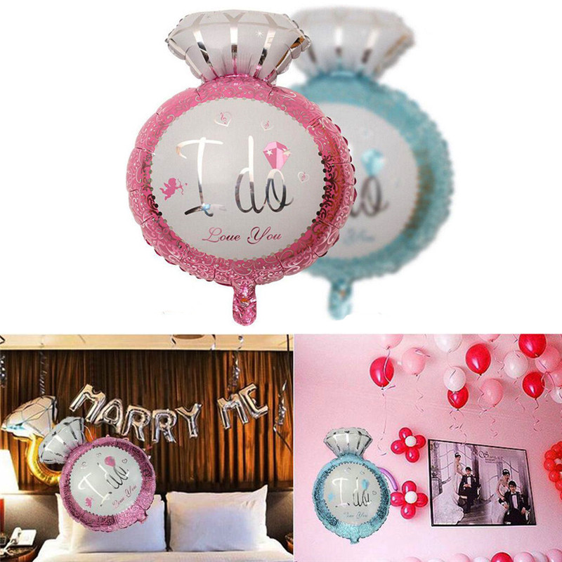 7e93af4124a Hot Sale Foil Balloons Pink Blue I Do Engagement Ring Wedding Bridal Shower  Proposal Party Decoration Balloons Free Shipping