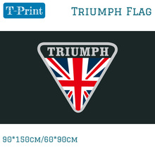 Free shipping 90x150cm 60x90cm Triumph Flag For Car Show Polyster Banner Racing