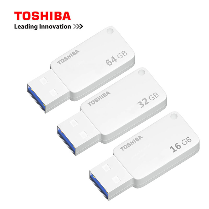 Galleria fotografica <font><b>TOSHIBA</b></font> Pendrive 64 GB USB 3.0 Ad Alta Velocità USB Flash Drive 64 GB/32 GB/16 GB Reale capacità Pendrive USB Flash Drive USB 3.0