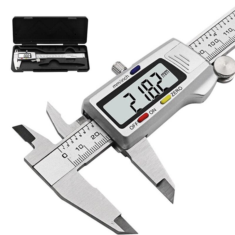 6 pulgadas 150mm digical pinzas de acero inoxidable Digital electrónica Vernier de Micrómetro de medición
