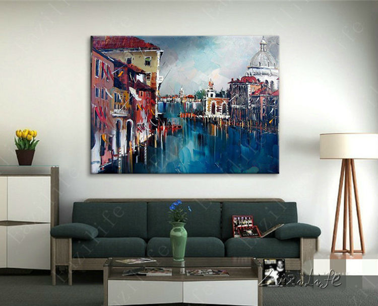 Aliexpress Buy Paris Street Art Painting Home Decor Decoration Oil Wall Pictures For Living Room Paint Paint2 From