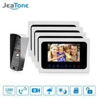 JeaTone 7 Inch Color TFT LCD Video Door Phone Doorbell Intercom System Kit IR Camera Night