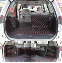 Best carpets! Special trunk mats for Mitsubishi Pajero Sport 7seats 2014-2008 waterproof trunk cargo liner mats,Free shipping
