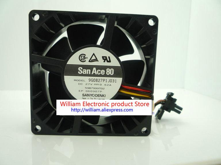 Новый оригинальный Sanyo 80*80*38 мм DC27V 0.62A 9G0827P1J031 8 см инверторный охлаждающий вентилятор