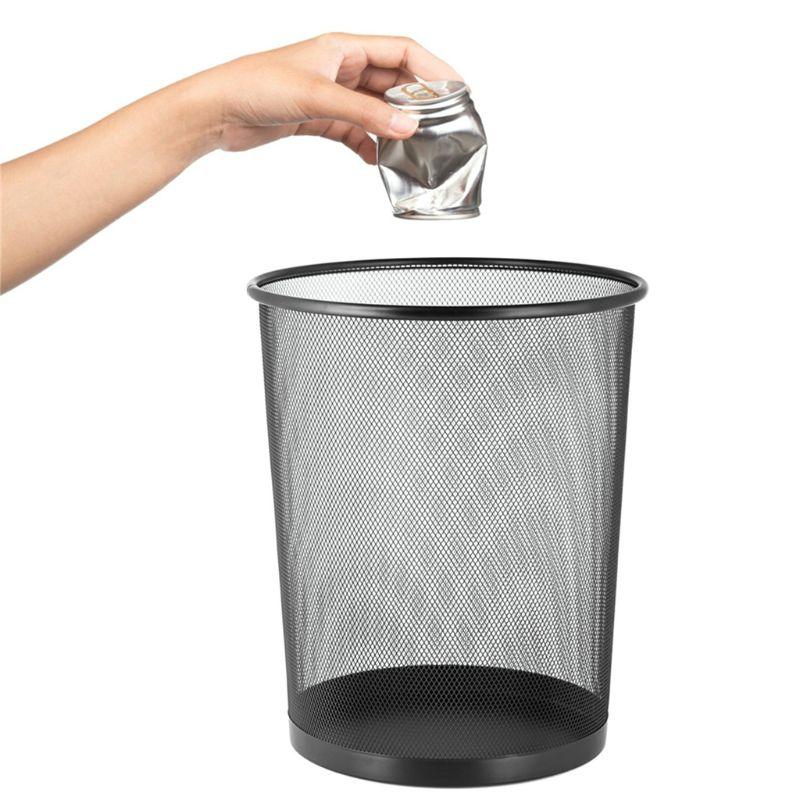 Duża pojemność okrągły wentylowane siatka kosz na śmieci kosz na śmieci kosz na kosz pojemnik na surowce wtórne do pokoju