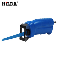 HILDA Power Tool Accessories Reciprocating Saw Attachment For Wood Metal Cutting Trimming Tool with 3 Blades