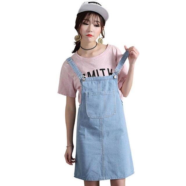 e47e221b480 vestidos 2018 Fashion Slim Sweet Jeans Dress Women Washed Short Suspender  Denim Sundress Denim Party Dress Female Plus Size LJ19