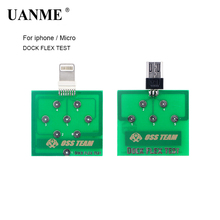 UANME 2Pcs/Lot Mobile Phone Battery Power Charging Dock Flex Test Repair Tools for iPhone  Android