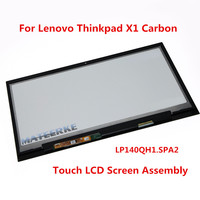100% New 2560*1440 LP140QH1.SPA2 Touch LCD Display Assembly For Lenovo Thinkpad X1 Carbon 00HN829