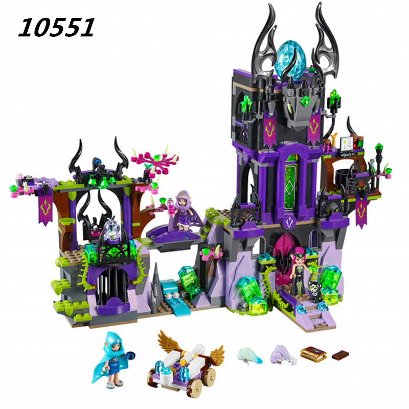 WAZ Compatible Legoe elves 41180 Bela 10551 1023pcs Ragana's Magic Shadow Castle Figure building blocks Bricks toys for children 10551 elves ragana s magic shadow castle building blocks bricks toys for children toys compatible with lego gift kid set girls