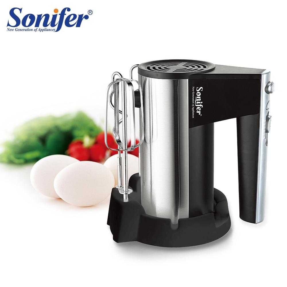 5 Speeds 300W Electric Food Mixer Hand Blender High Quality Dough Blender Egg Beater Hand Mixer For Kitchen 220V Sonifer
