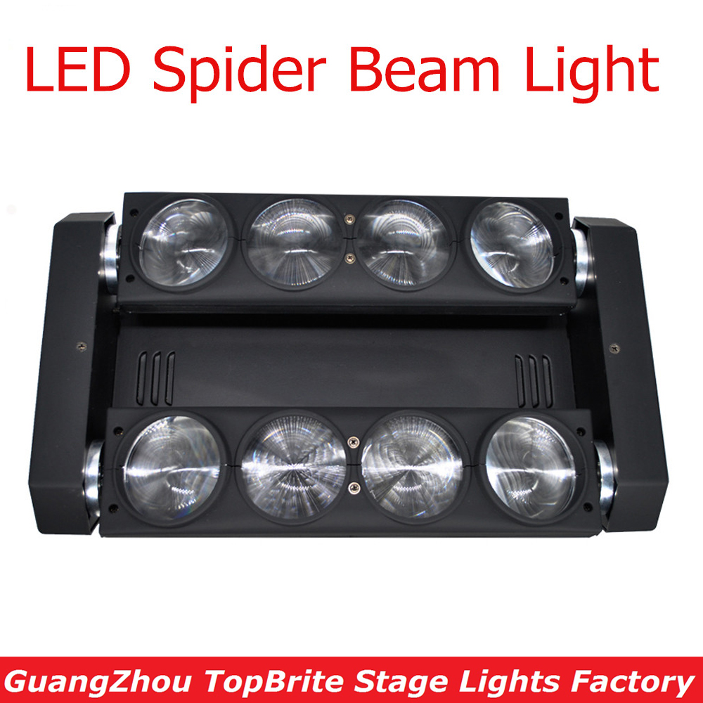 2XLot Free Shipping 8x10W NEW Moving Head Led Spider Light 4in1 RGBW Led Party Light DJ Disco Lighting Beam Moving Head Lights