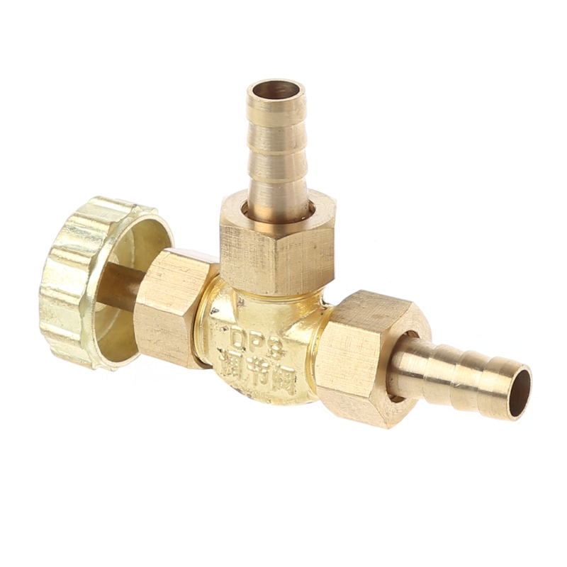 WUXUN-Valve Elbow Brass Needle Valve 8mm Propane Butane Gas Adjuster Barbed Spigots 1 Mpa